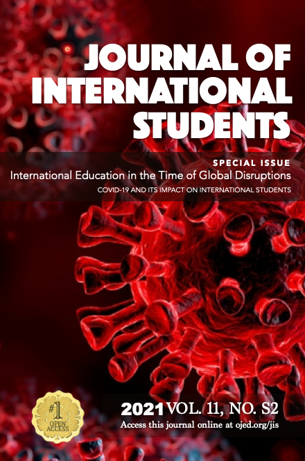 View Vol. 11 No. S2 (2021): International Education in the Time of Global Disruptions:COVID-19 and its Impact on International Students