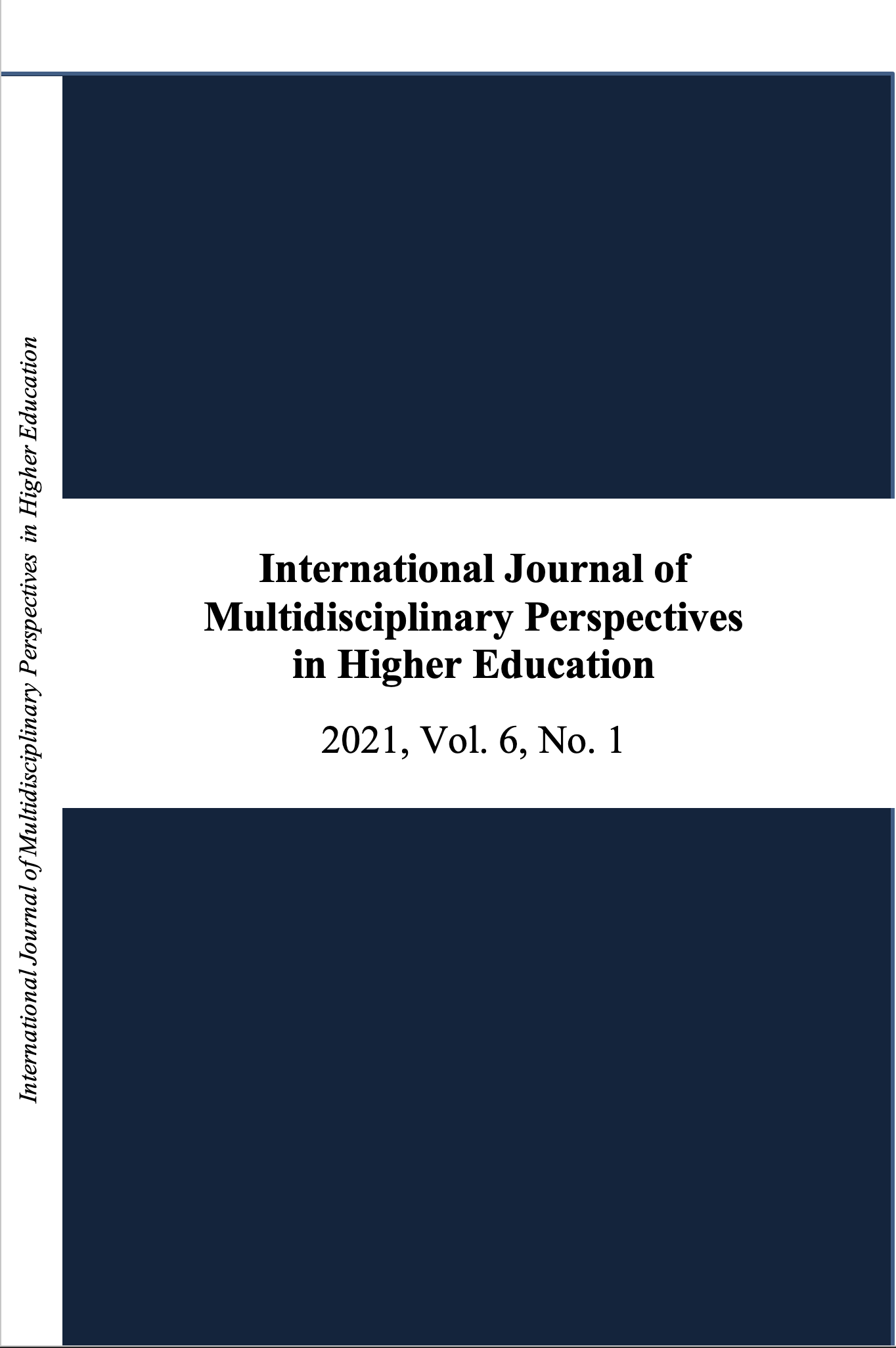 View Vol. 6 No. 1 (2021): International Journal of Multidisciplinary Perspectives in Higher Education