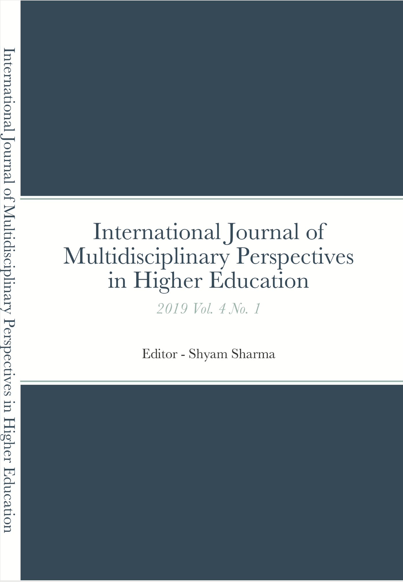 The International Journal of Multidisciplinary Perspectives in Higher Education (Print ISSN 2474-2546 & Online ISSN 2474-2554) is a double-blind peer-reviewed scholarly journal that seeks to create conversations about education—especially the policy, practice, and research on teaching and learning—among scholars across the academic disciplines and across national and cultural borders. www.ojed.org/jimphe